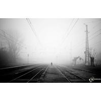 Железная Дорога в тумане скачать обои для рабочего стола и картинки