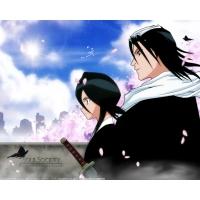 Rukia and Byakuya картинки и обои на рабочий стол 1024 768
