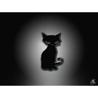 Черный кот скачать картинки на рабочий стол и обои