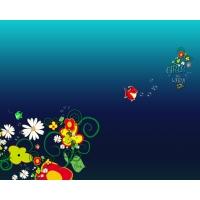 Цветочный узор 3d бесплатные картинки на комп и фотки для рабочего стола