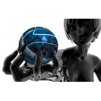 Девочка и шар 3d скачать красивые обои для рабочего стола