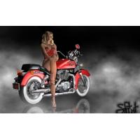 Красный мотоцикл 3d картинки - это супер рабочий стол