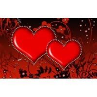 Влюбленные сердца 3d большие обои и картинки для рабочего стола