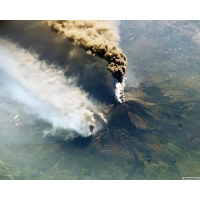 Вулкан из космоса скачать картинки на комп и обои для рабочего стола