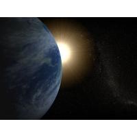Земля и Солнце обои для рабочего стола