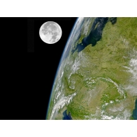 Земля и Луна картинки бесплатно на рабочий стол и обои