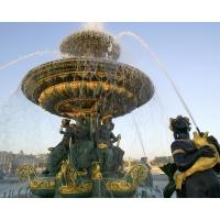 Париж, фонтан на Площади Согласия заставки на рабочий стол и прикольные картинки