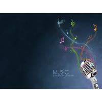 Микрофон и ноты - картинки, скачать фоновый рисунок рабочего стола