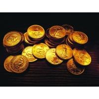 Золотые монеты обои для большого рабочего стола и картинки