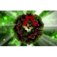 Рождественский венок картинки и обои для рабочего стола 1024 768