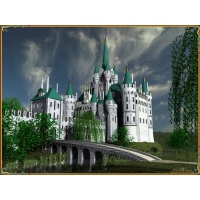Замок обои (4 шт.)