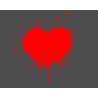 Размазанное сердце скачать фото на рабочий стол и обои