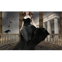 Девушка в черном платье картинки и обои