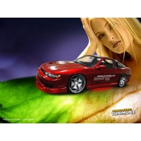 Тюнингованное авто на фоне блондинки - картинки, обои на новые рабочие столы, авто и девушки