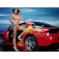 Красная Мазда и девушка - обои и фото на красивый рабочий стол скачать, авто и девушки
