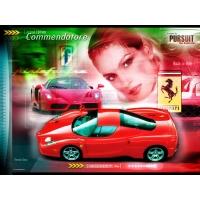 Красное новое феррари из Италии на фоне девушки, фото и обои для рабочего стола