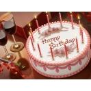 Торт со свечками, картинки и прикольные обои на рабочий стол